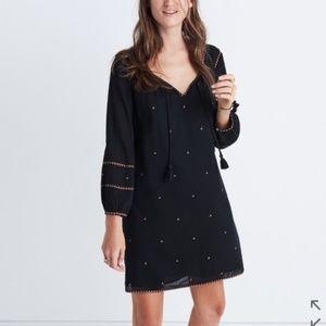 MADEWELL Signal Mini Long Sleeve Boho Dress XXS